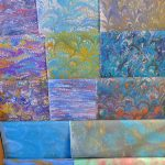 handmarbled fabrics ready for sale