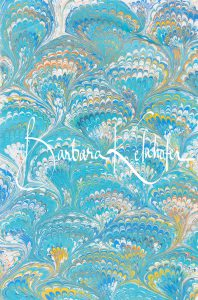 the hand marbled fabric is ready and can be further processed