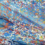 ''Spanish Waves'- Handmarbled Paper by Barbrara Kelnhofer